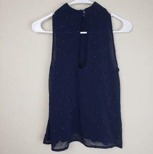Abercrombie & Fitch Tops - Abercrombie & Fitch | Sleeveless Navy Blouse